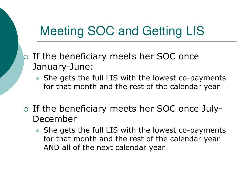 Meeting SOC and Getting LIS