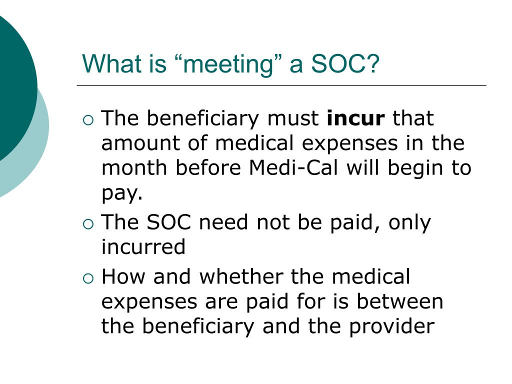 """What is """"meeting"""" a SOC?"""