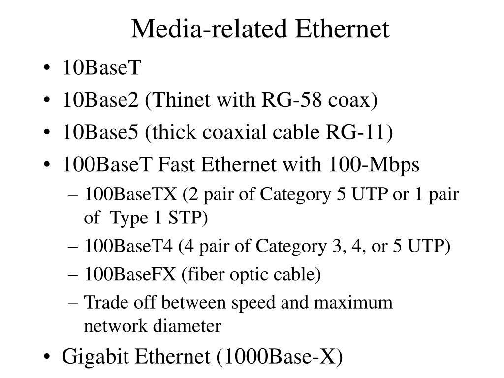 Media-related Ethernet