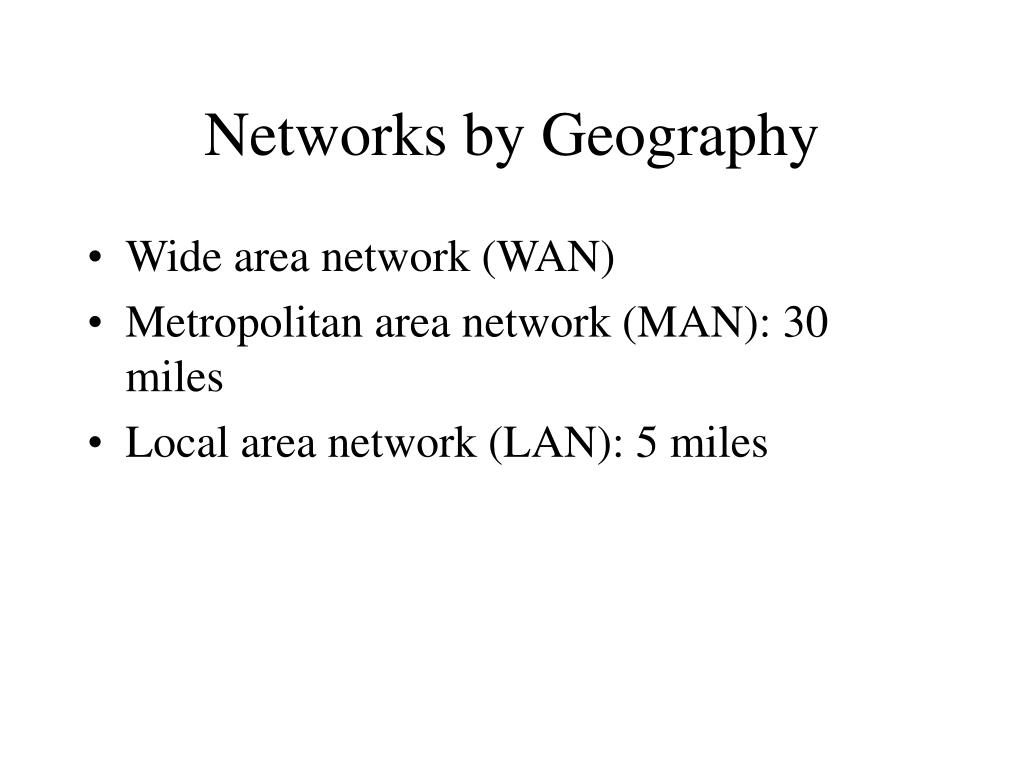 Networks by Geography