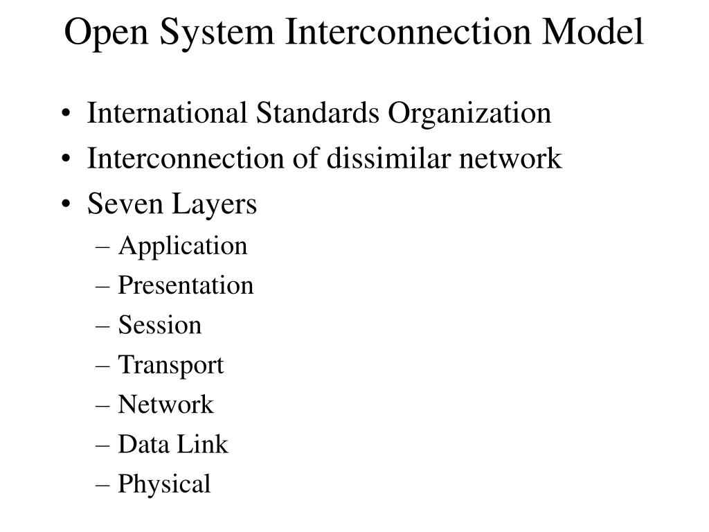 Open System Interconnection Model