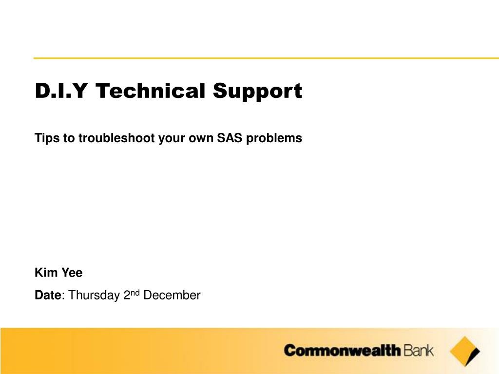 D.I.Y Technical Support
