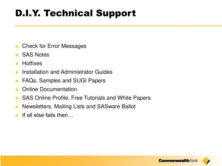D i y technical support2