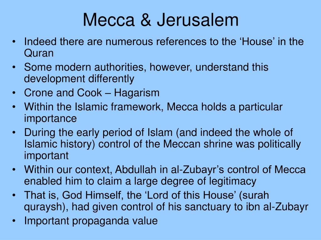 Mecca & Jerusalem