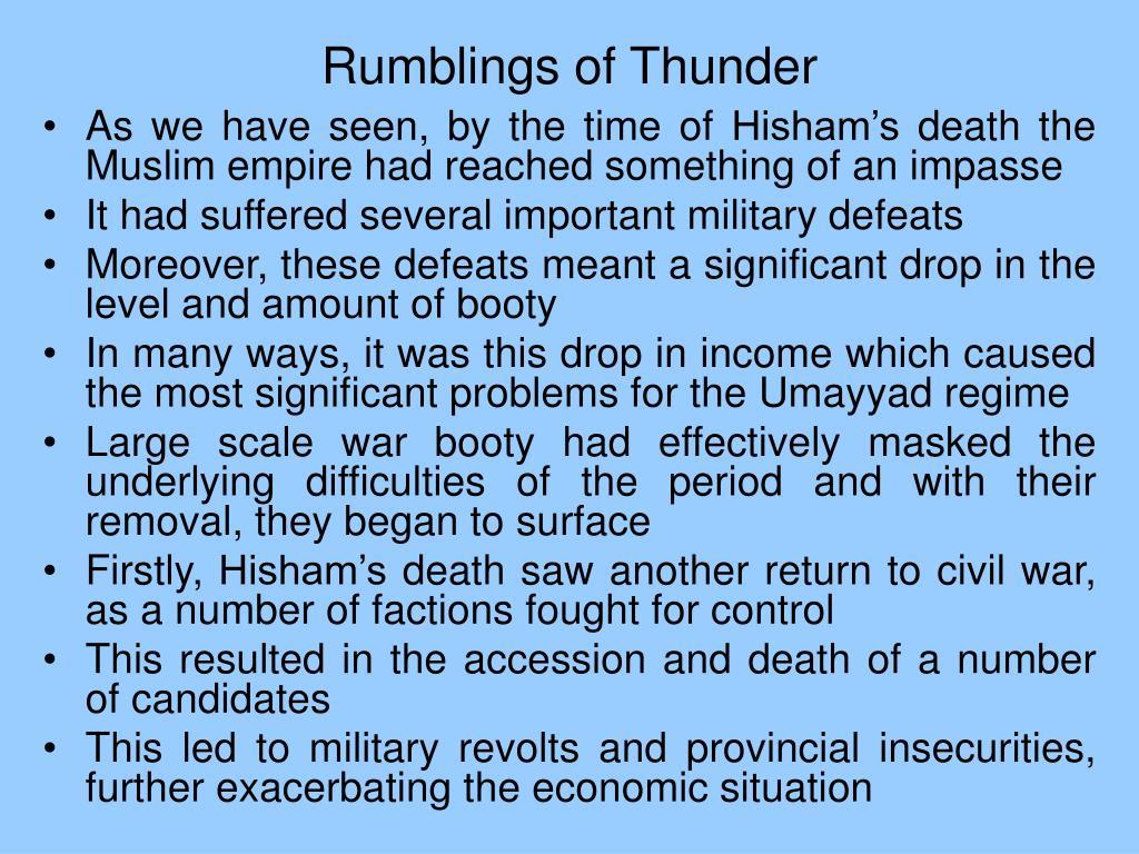 Rumblings of Thunder