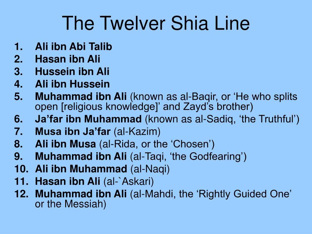 The Twelver Shia Line