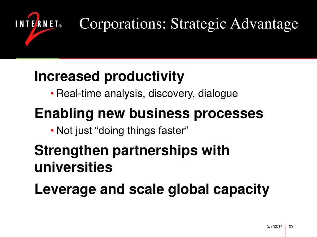 Corporations: Strategic Advantage