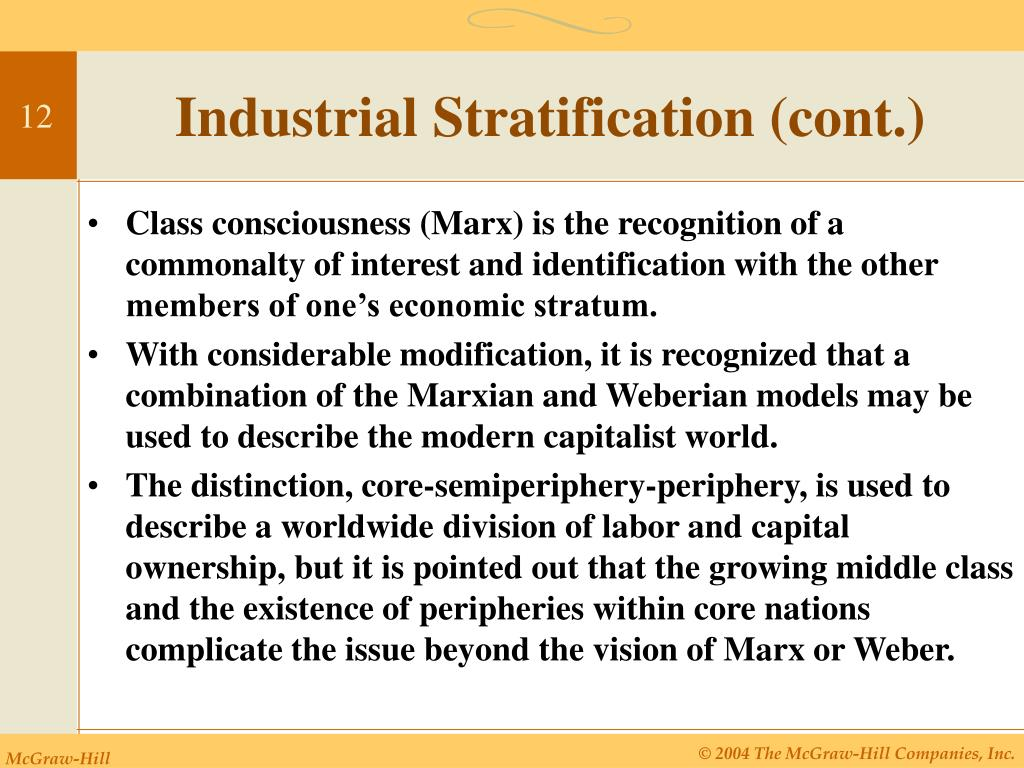 Industrial Stratification (cont.)
