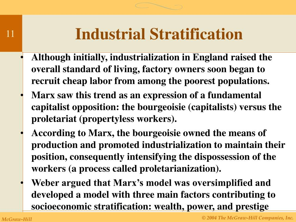 Industrial Stratification