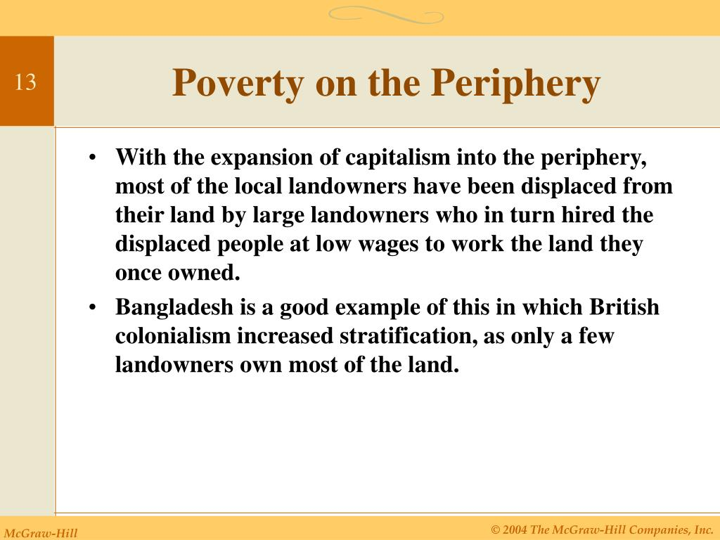 Poverty on the Periphery