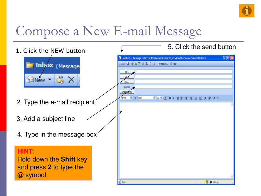 Compose a New E-mail Message