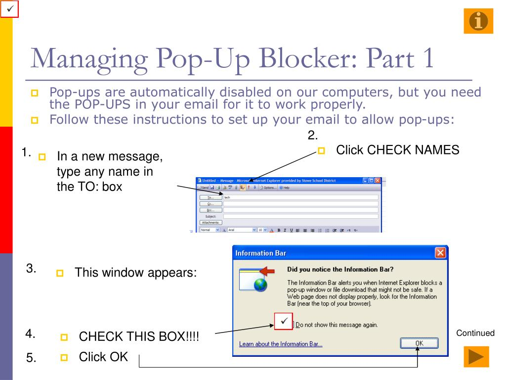 Managing Pop-Up Blocker: Part 1