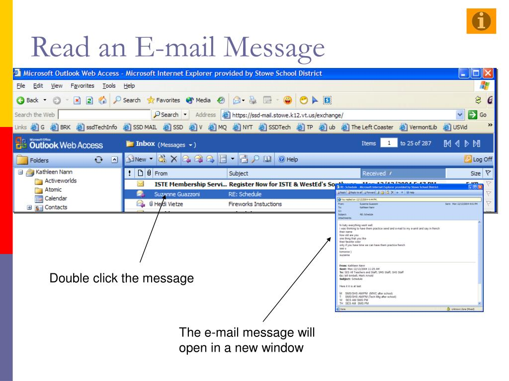 Read an E-mail Message