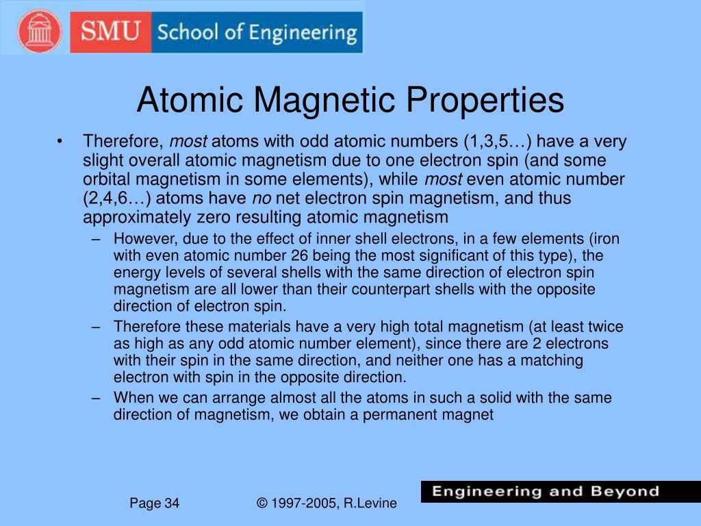 Atomic Magnetic Properties