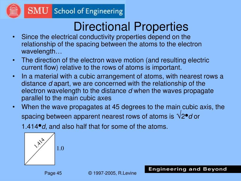 Directional Properties