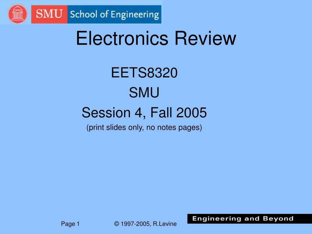 Electronics Review