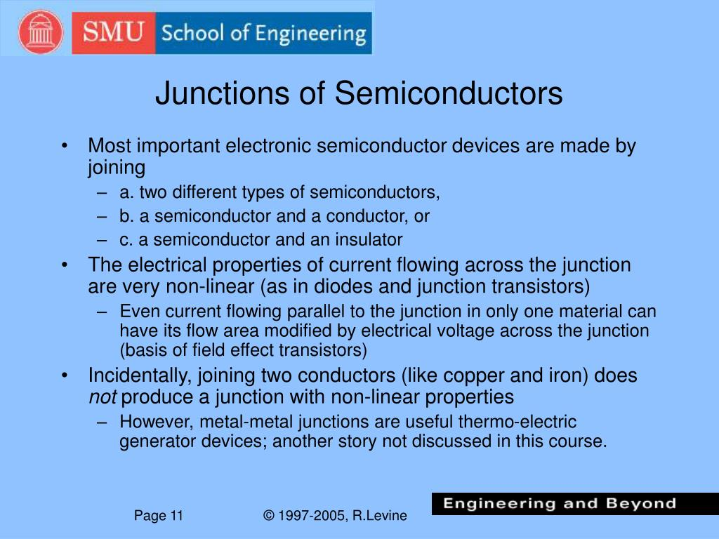Junctions of Semiconductors