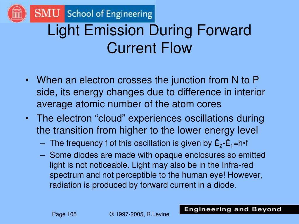 Light Emission During Forward Current Flow