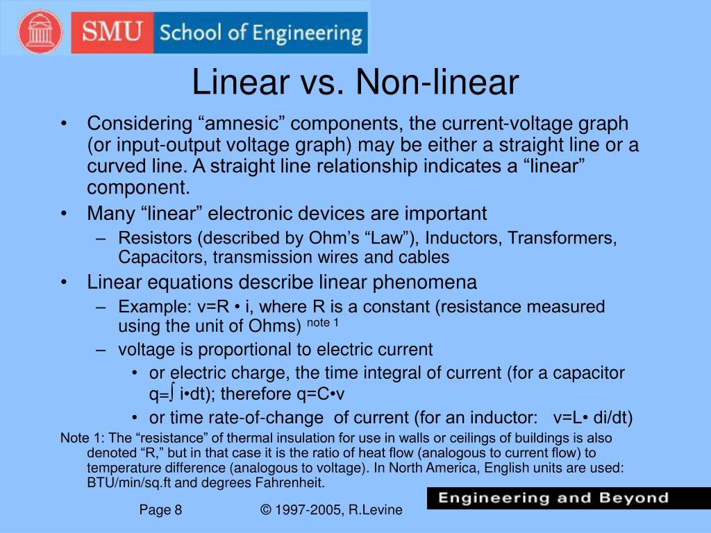 Linear vs. Non-linear