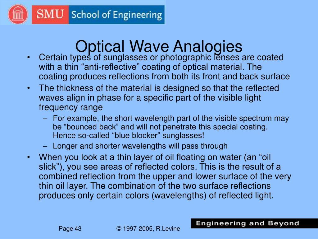 Optical Wave Analogies