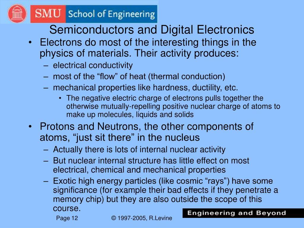 Semiconductors and Digital Electronics