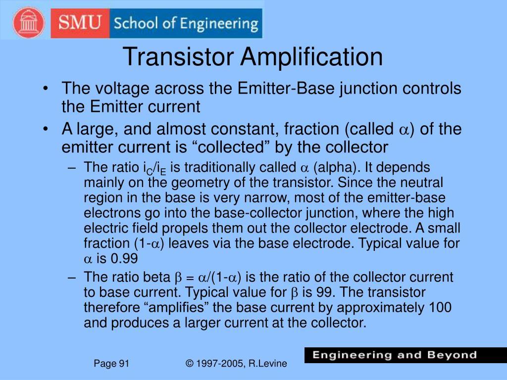 Transistor Amplification
