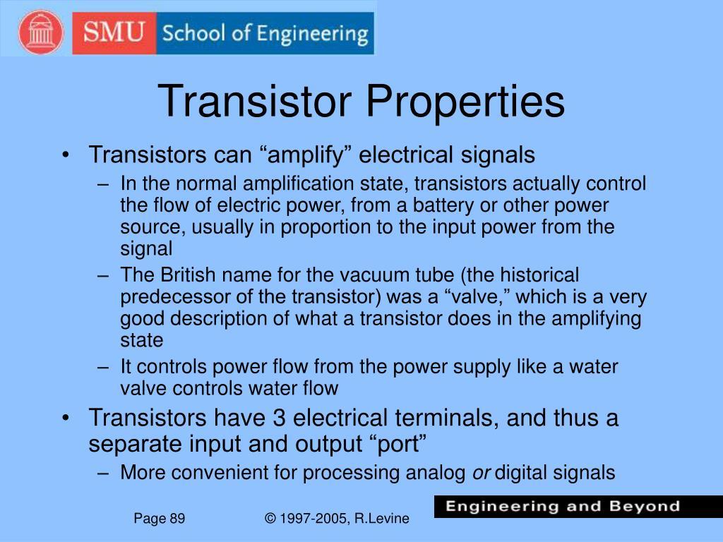 Transistor Properties
