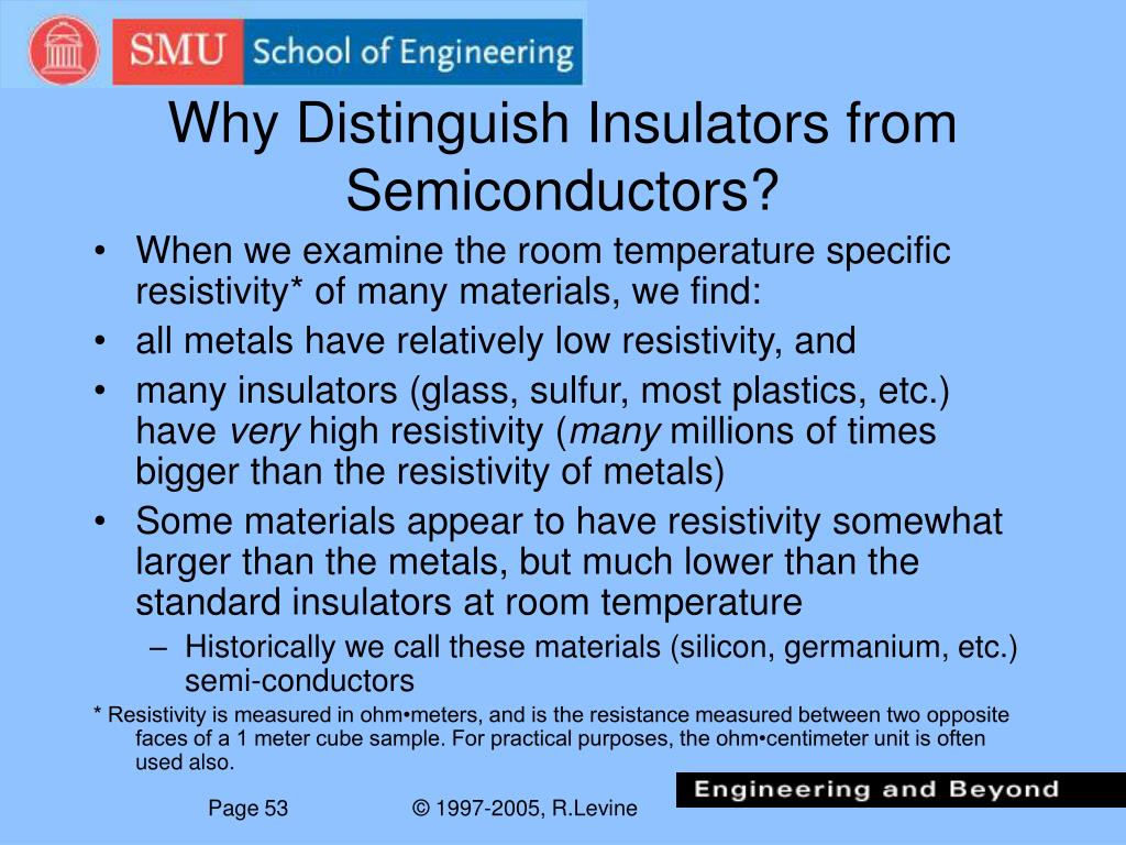 Why Distinguish Insulators from Semiconductors?