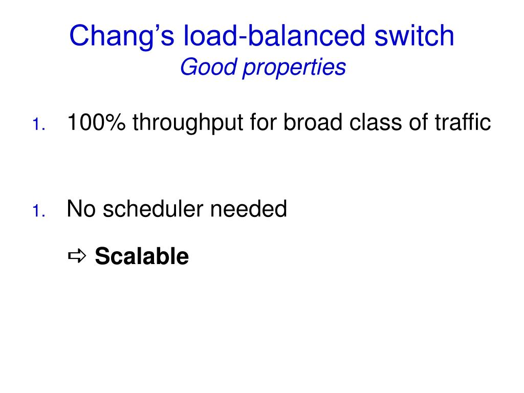 Chang's load-balanced switch