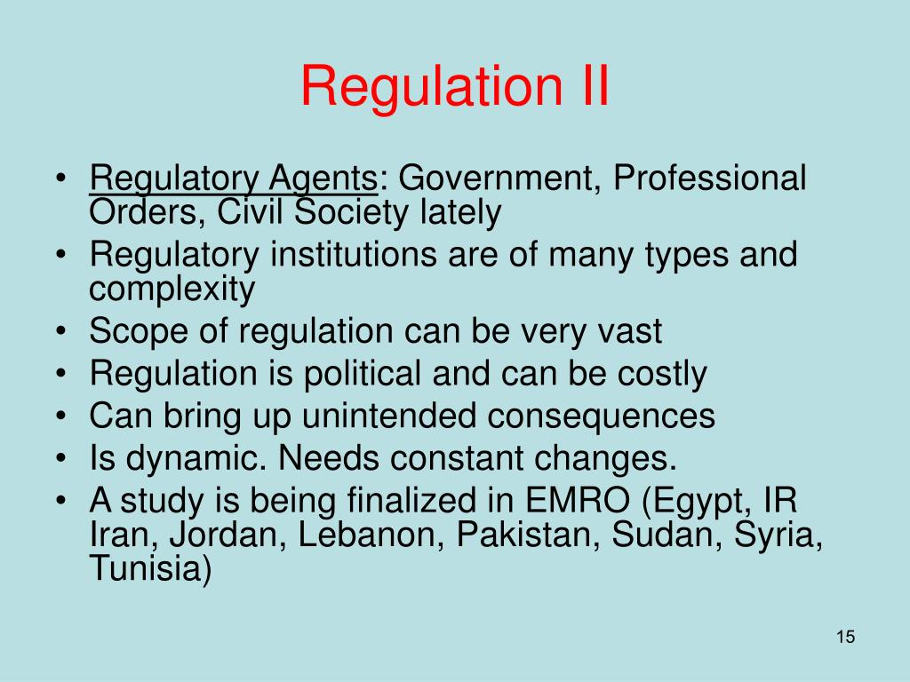 Regulation II