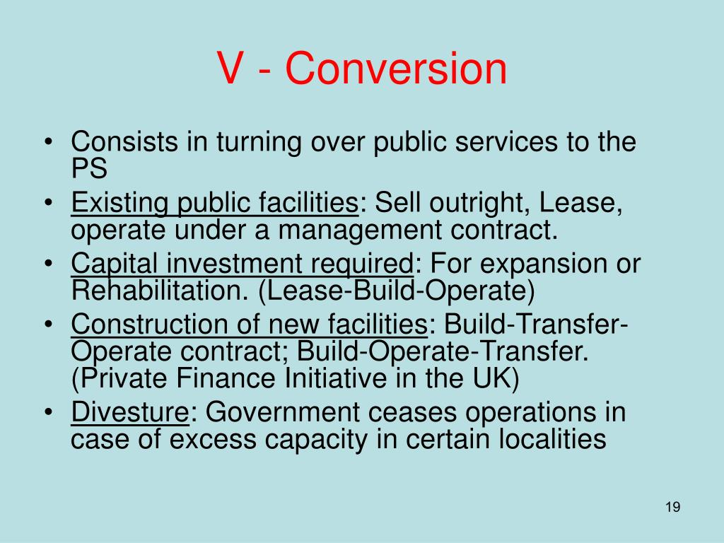 V - Conversion