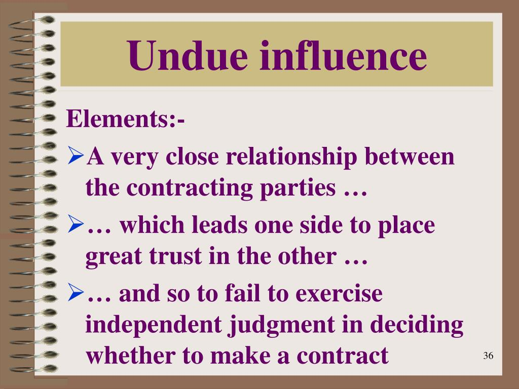 undue influence An experienced probate attorney explains how you can prove undue influence in a will contest call 979-703-7014 or 936-337-4681 for help with your probate.