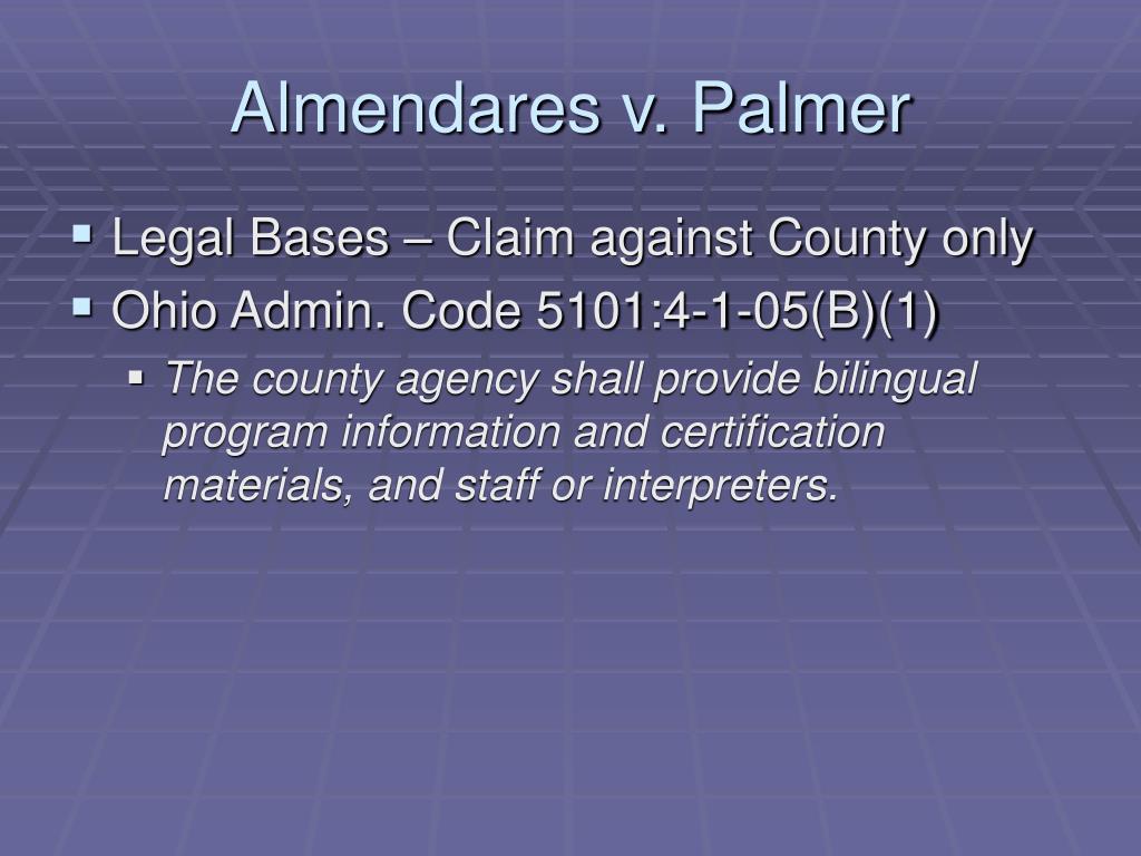 Almendares v. Palmer