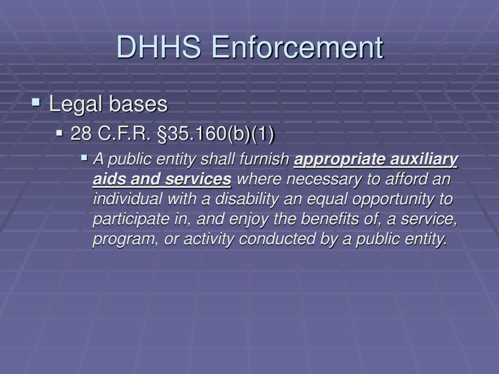 DHHS Enforcement