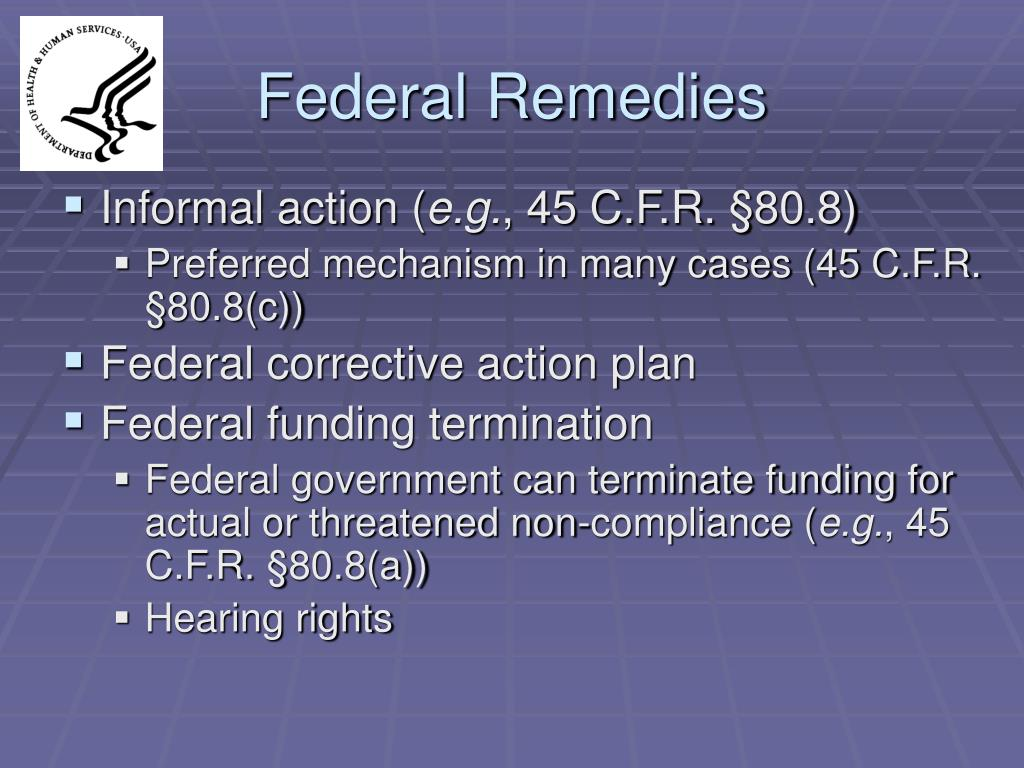 Federal Remedies