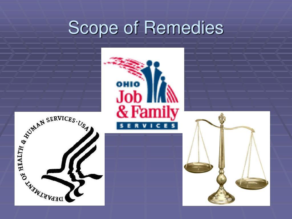 Scope of Remedies