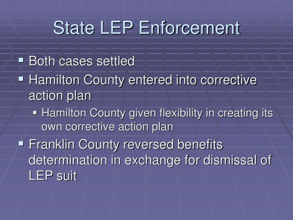 State LEP Enforcement