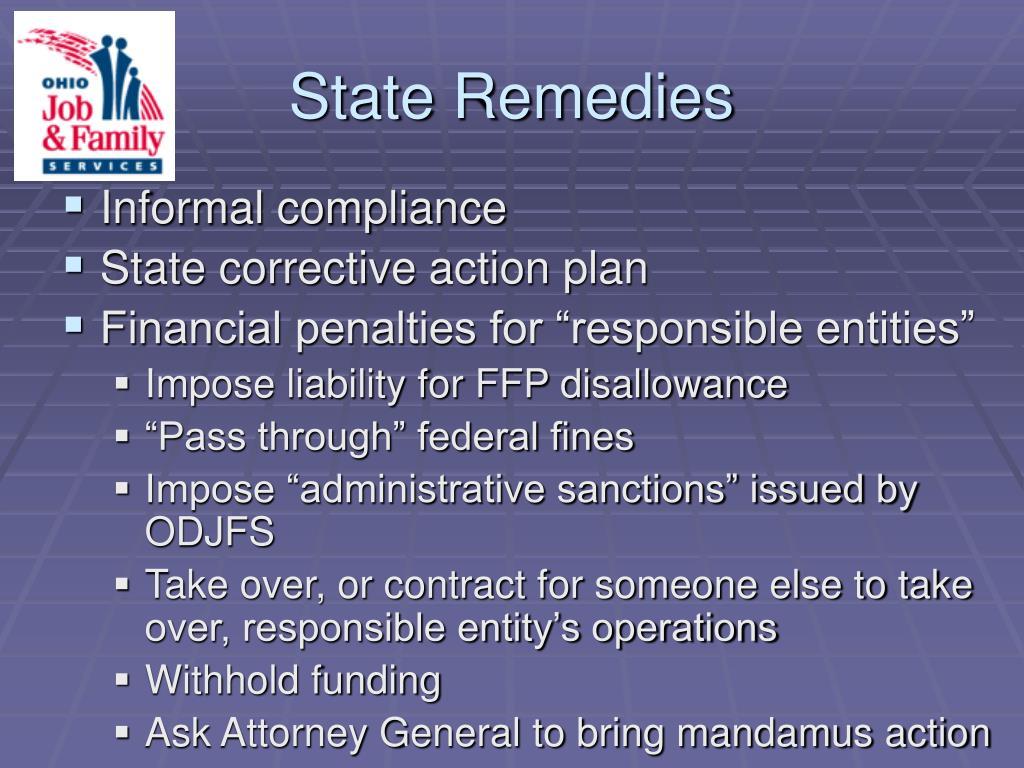 State Remedies