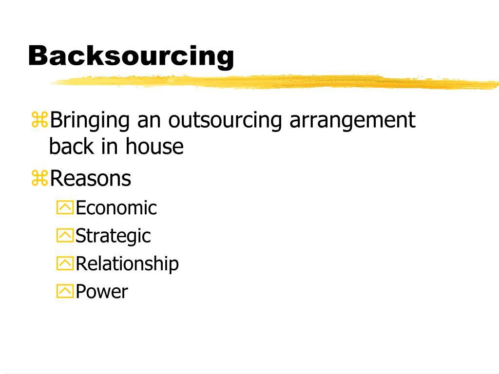 Backsourcing