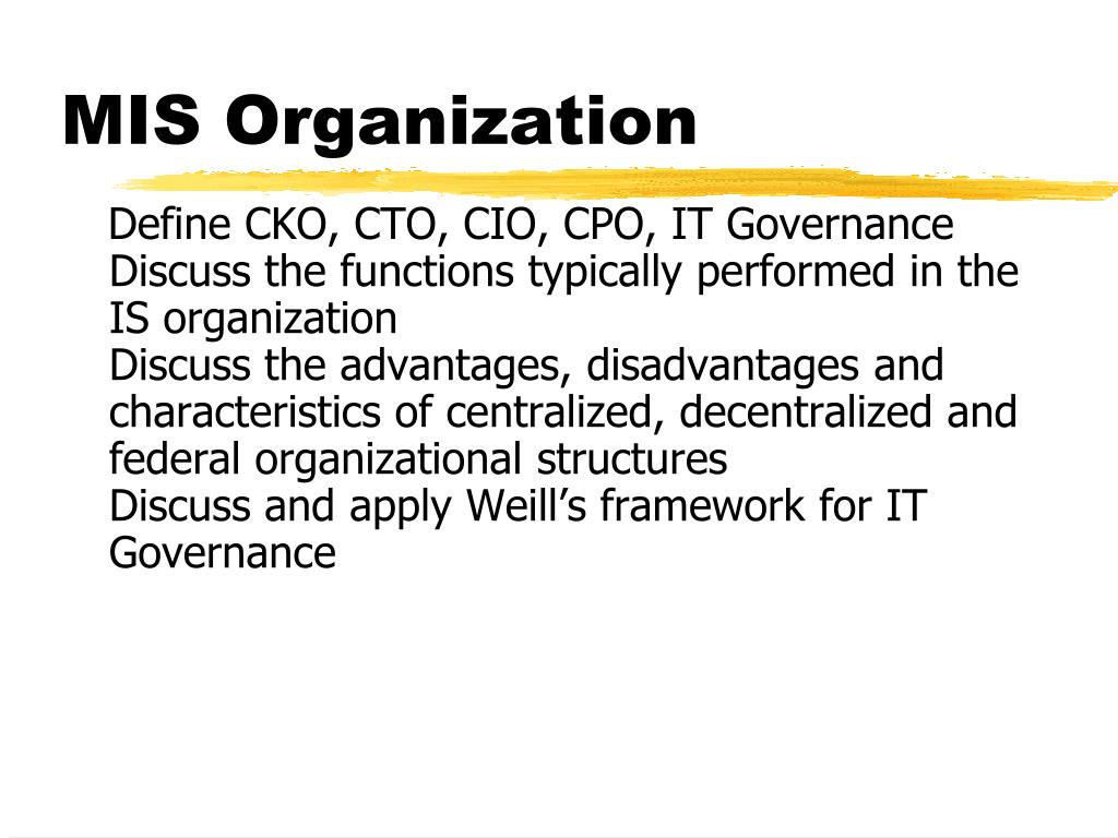 MIS Organization