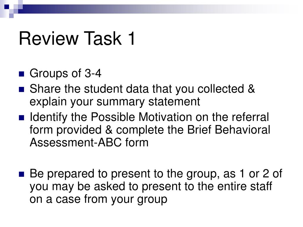 Review Task 1