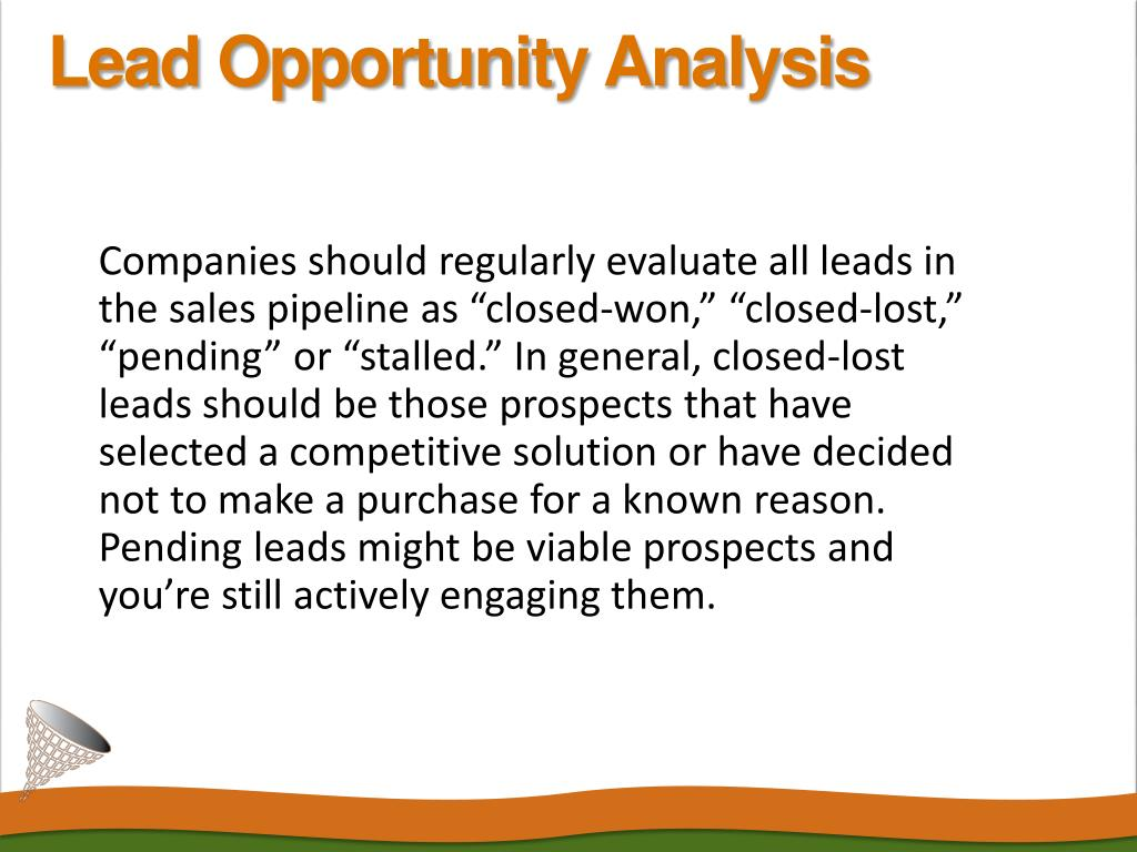 Lead Opportunity Analysis
