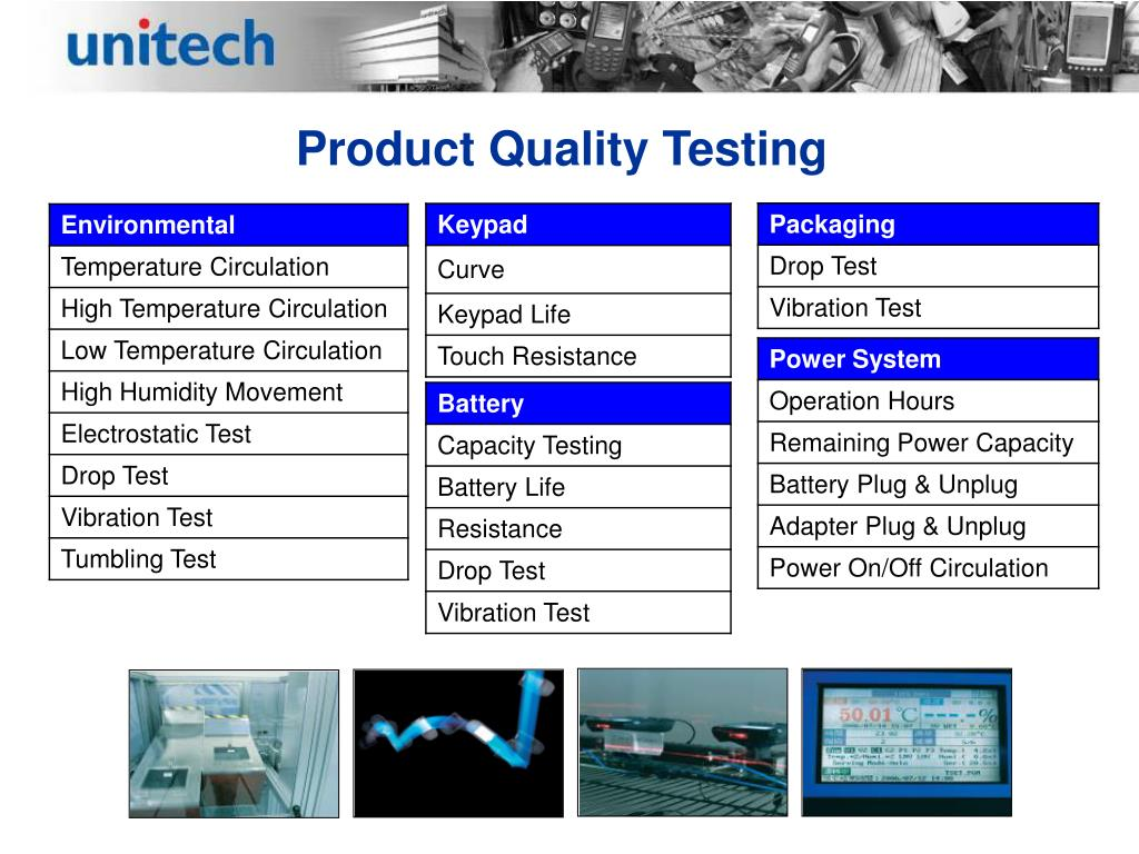 Product Quality Testing