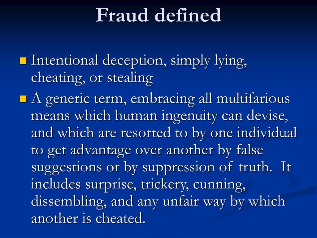 Fraud defined