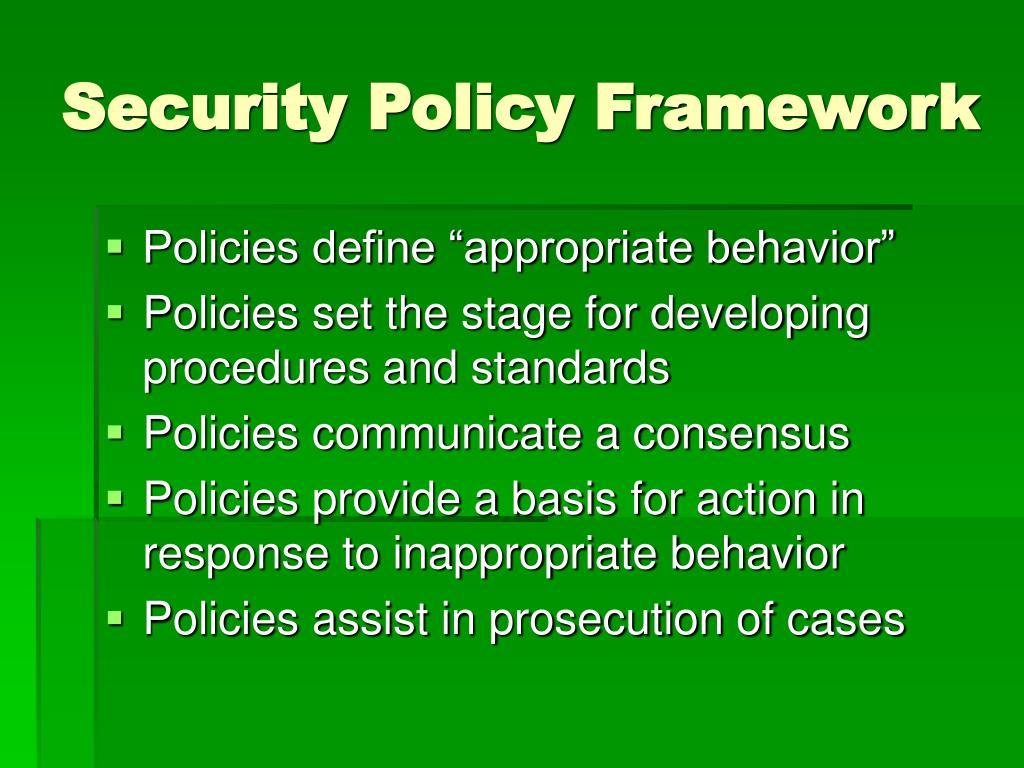 Security Policy Framework