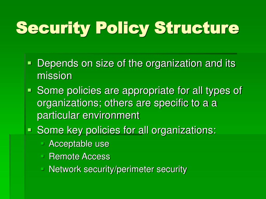 Security Policy Structure