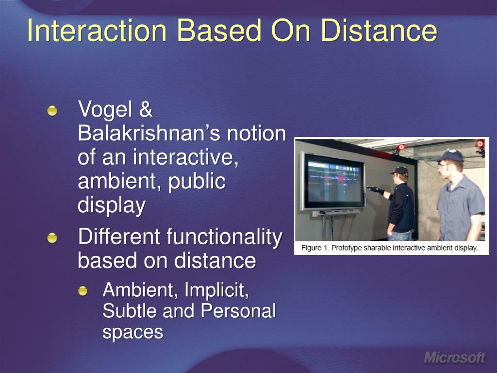 Interaction Based On Distance