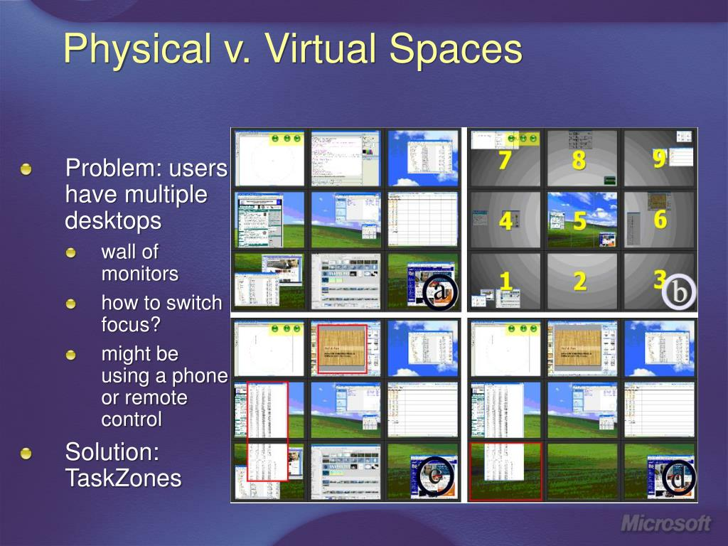 Physical v. Virtual Spaces