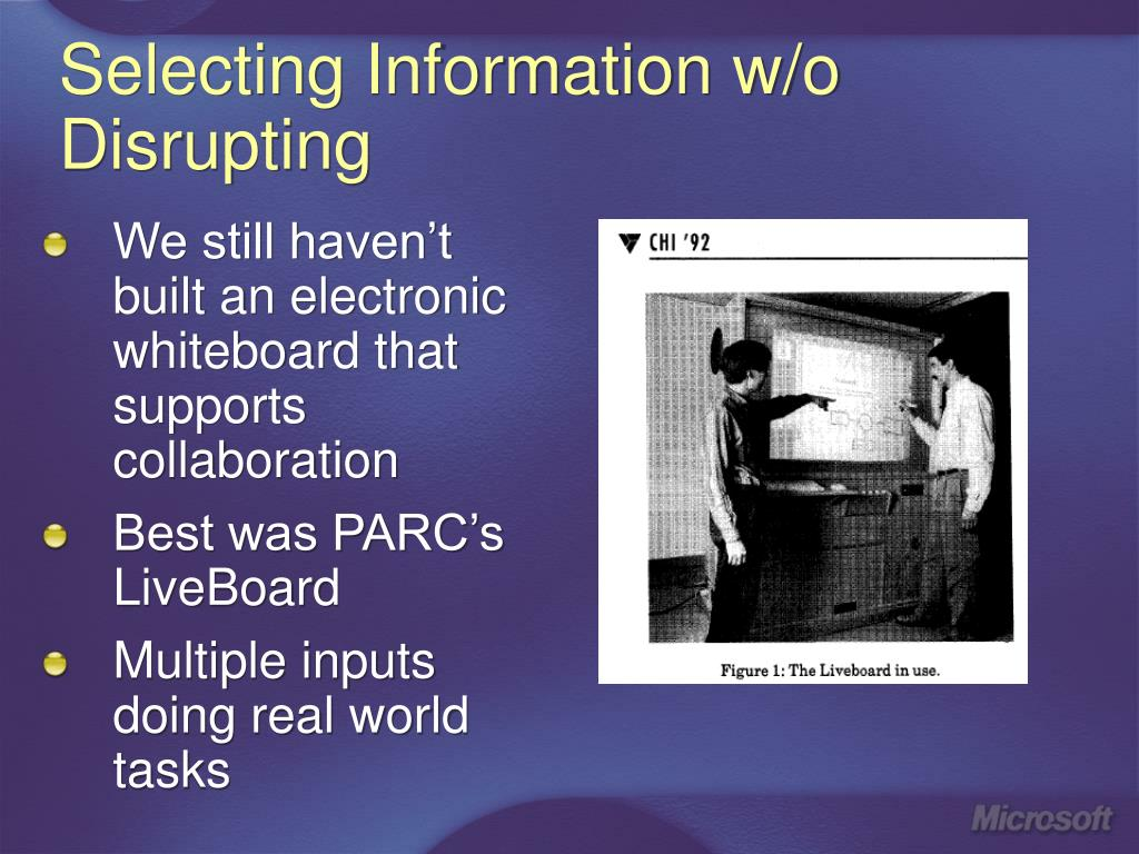 Selecting Information w/o Disrupting