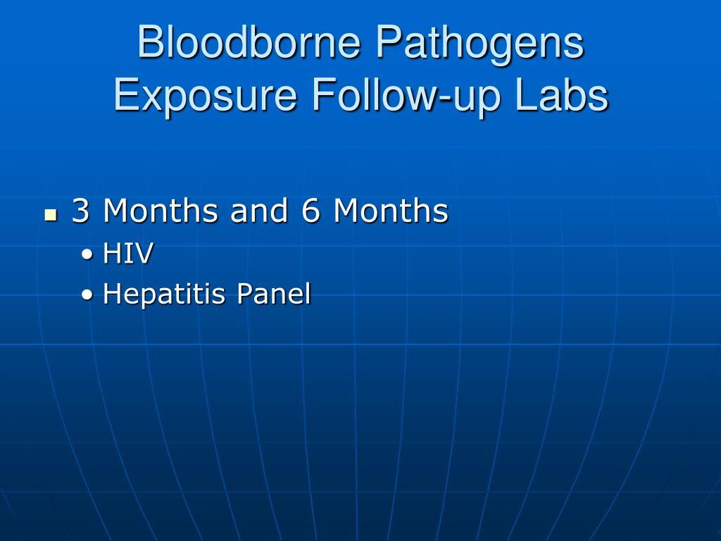 Bloodborne Pathogens Exposure Follow-up Labs